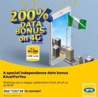 MTN Introduces 4.5GB For N1200 For Independence Celebration